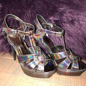 Iridescent Heels size 9 1/2